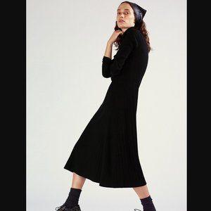 🔥MOVING SALE🔥New ZARA Black A-Line Ribbed Dress